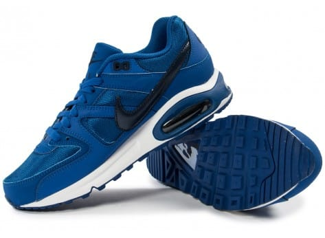 Chaussures Nike Air Max Command bleue vue intérieure
