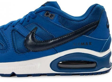 Chaussures Nike Air Max Command bleue vue dessus