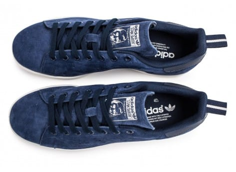 Chaussures adidas Stan Smith Suede bleu marine vue arrière