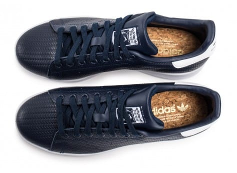 Chaussures adidas Stan Smith Relief bleu marine vue arrière
