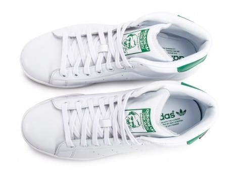 Chaussures adidas Stan Smith Winter blanche vue arrière