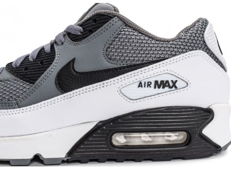 Chaussures Nike Air Max 90 Essential grise et blanche vue dessus