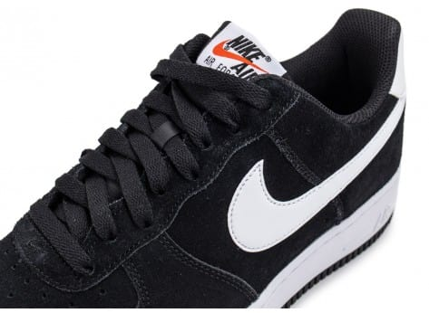 Chaussures Nike Air Force 1 Suede noire vue dessus