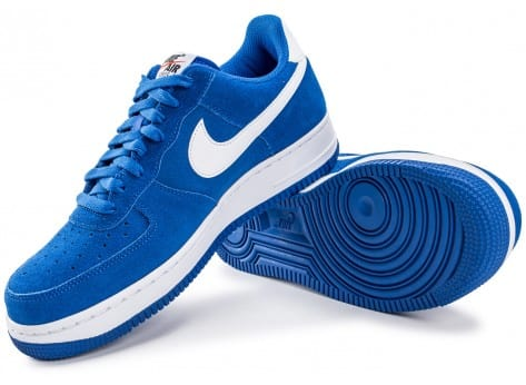 Chaussures Nike Air Force 1 Suede bleu vue intérieure