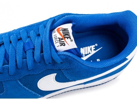 Chaussures Nike Air Force 1 Suede bleu vue dessus