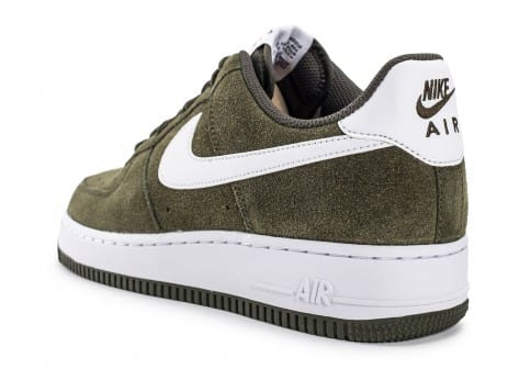 Chaussures Nike Air Force 1 Suede kaki vue arrière