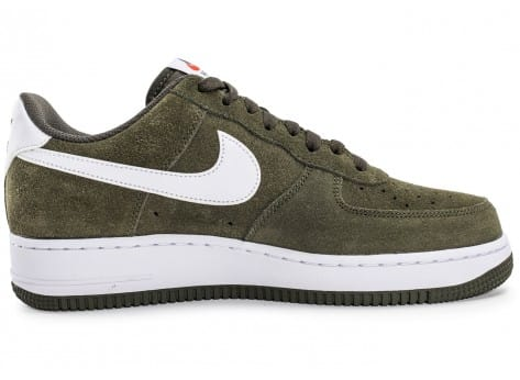 Chaussures Nike Air Force 1 Suede kaki vue intérieure