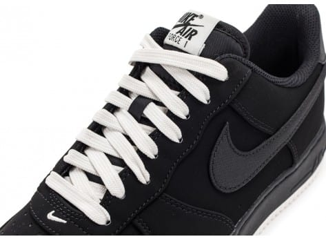Chaussures Nike Air Force 1 Low Black sail vue dessus