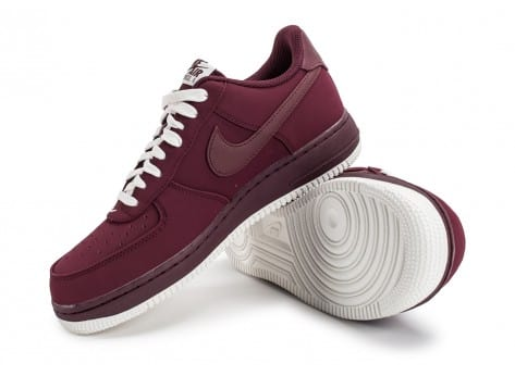 Chaussures Nike Air Force 1 Low Bordeaux vue avant