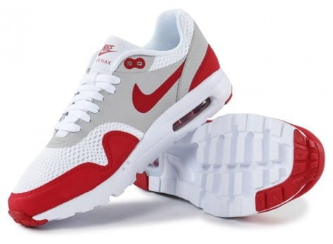 Chaussures Nike Air Max 1 Ultra Essential blanc rouge vue intérieure