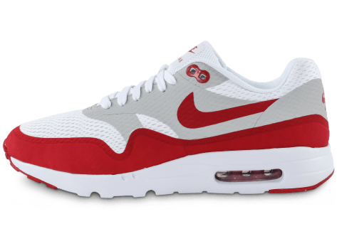 Chaussures Nike Air Max 1 Ultra Essential blanc rouge vue arrière