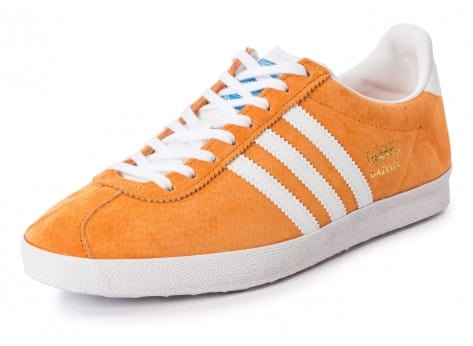 Chaussures adidas Gazelle OG orange vue avant
