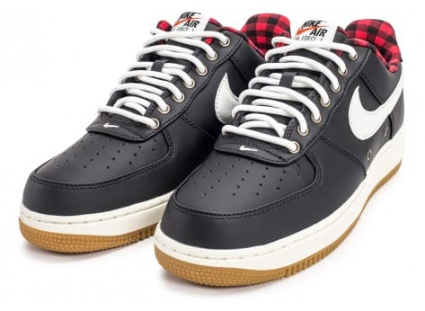 Chaussures Nike Air Force 1 '07 LV08 Lumberjack noire vue intérieure