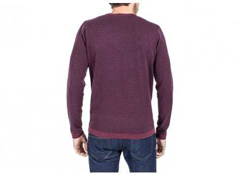 Sweat Jack & Jones Pull à Rayures bordeaux