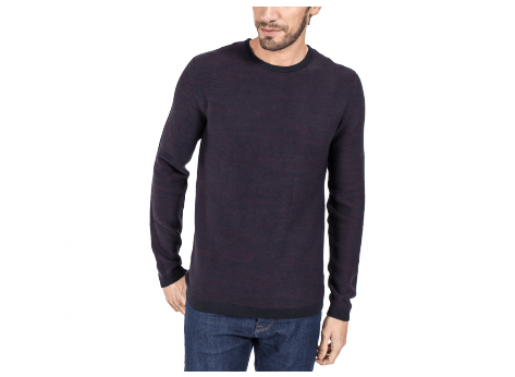 Sweat Jack & Jones Pull Knit Graph bordeaux