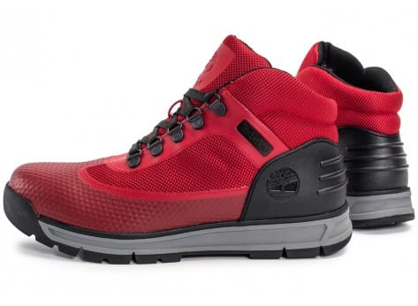 Chaussures Timberland Field Guide No Sew rouge vue extérieure