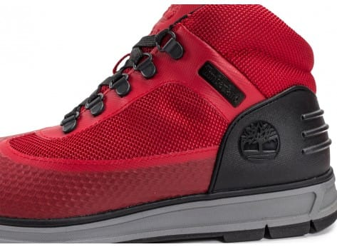 Chaussures Timberland Field Guide No Sew rouge vue dessus