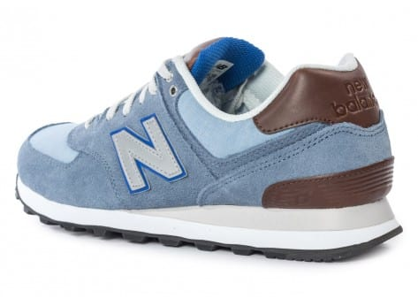 Chaussures New Balance ML574 Bcd Casual Bleue vue arrière