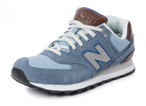 Chaussures New Balance ML574 Bcd Casual Bleue vue avant