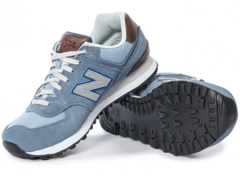 Chaussures New Balance ML574 Bcd Casual Bleue vue intérieure