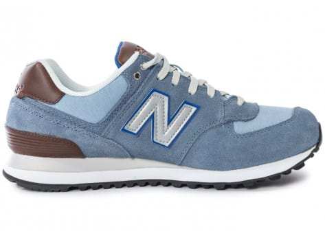 Chaussures New Balance ML574 Bcd Casual Bleue vue dessous