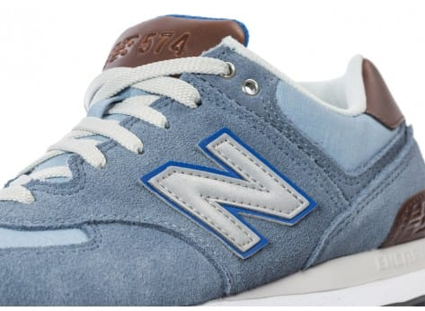 Chaussures New Balance ML574 Bcd Casual Bleue vue dessus