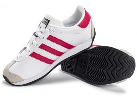 Chaussures adidas Country OG Enfant blanche et rose vue intérieure