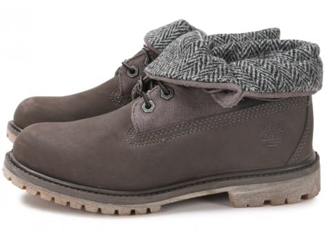 Chaussures Timberland 6-Inch Roll-Top grise vue extérieure