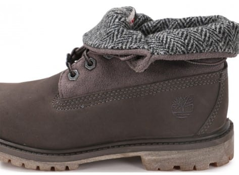 Chaussures Timberland 6-Inch Roll-Top grise vue dessus
