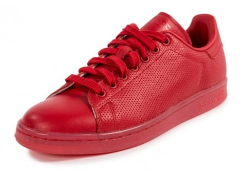 Chaussures adidas Stan Smith Adicolor rouge vue avant