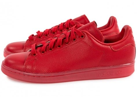 Chaussures adidas Stan Smith Adicolor rouge vue extérieure