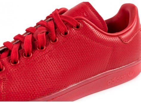 Chaussures adidas Stan Smith Adicolor rouge vue dessus