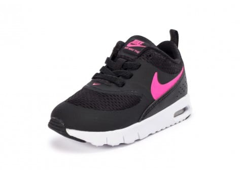 on sale 786a0 b7b08 ... chaussures nike air max thea bebe noire et rose vue arriere