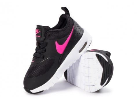 huge selection of b4b3e 4306d ... chaussures nike air max thea bebe noire et rose vue interieure