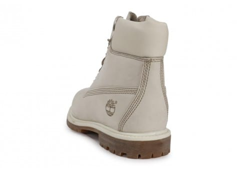 Chaussures Timberland 6-Inch Premium Boot Blanche vue arrière