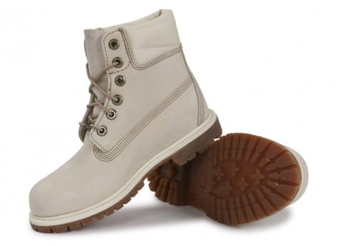 Chaussures Timberland 6-Inch Premium Boot Blanche vue intérieure