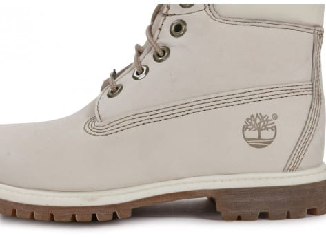 Chaussures Timberland 6-Inch Premium Boot Blanche vue dessus