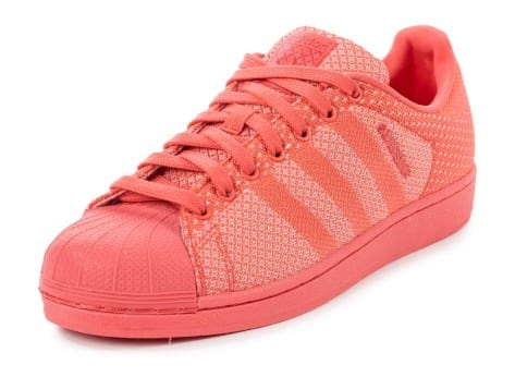 Chaussures adidas Superstar Weave orange vue avant
