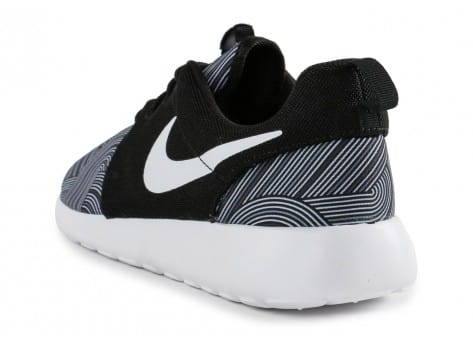 Chaussures Nike Roshe One Print noire vue arrière