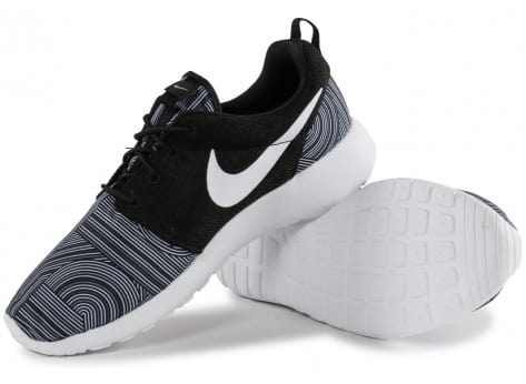 Chaussures Nike Roshe One Print noire vue intérieure