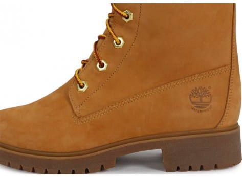Chaussures Timberland Bottes Earthkeepers Premium 14-Inch Zip beige vue dessus