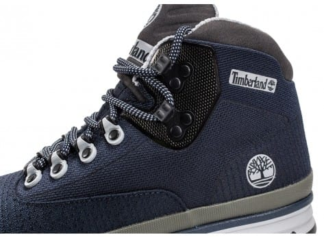 Chaussures Timberland Euro Hiker bleue vue dessus