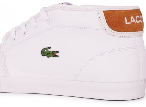 Chaussures Lacoste AMPTHILL BLANCHE vue dessus