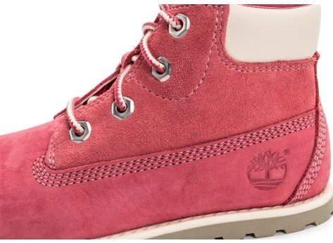 Chaussures Timberland Pokey Pine 6-inch Boots Bébé rose vue dessus