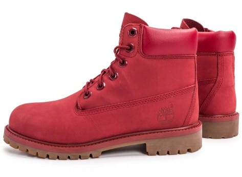 Chaussures Timberland 6-Inch Premium WP Boot Junior rouge vue dessous