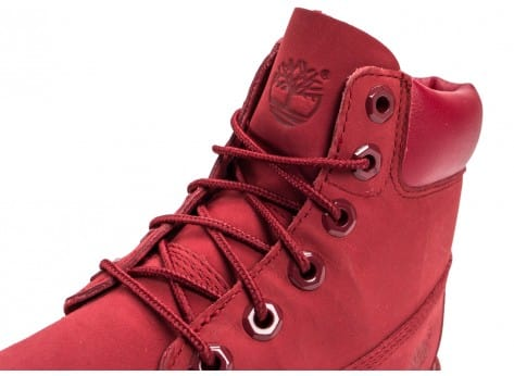 Chaussures Timberland 6-Inch Premium WP Boot Junior rouge vue dessus