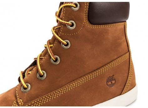 Chaussures Timberland Flannery 6-inch marron vue dessus