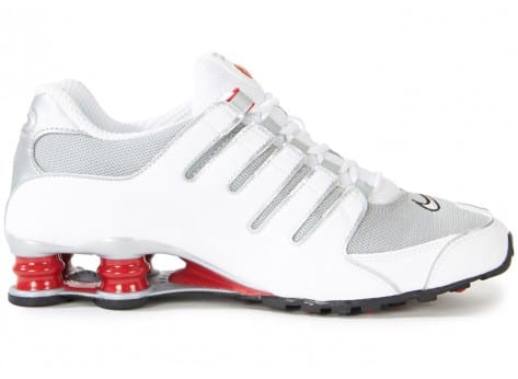 pretty nice 05501 0194f ... chaussures nike shox nz blanche rouge vue interieure