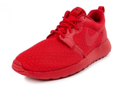 Chaussures Nike Roshe One Hyperfuse rouge vue avant