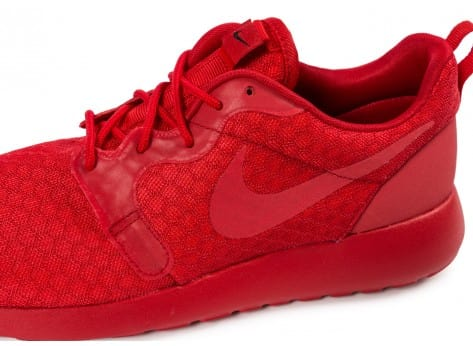 Chaussures Nike Roshe One Hyperfuse rouge vue dessus